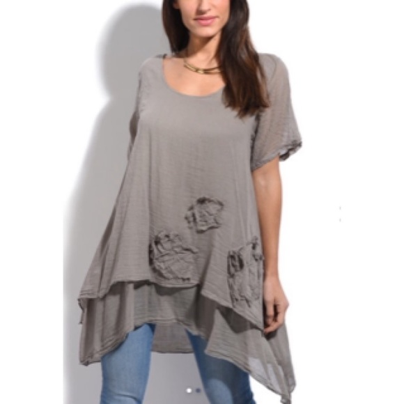 306847a295 La Fille Du Couturier Tops | Light Grey Tunic | Poshmark